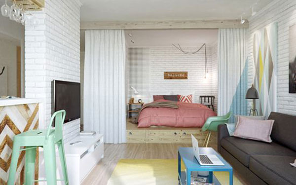 giường ngủ trong phòng khách 12