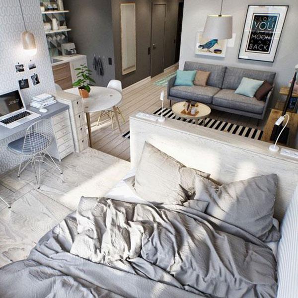 giường ngủ trong phòng khách 8