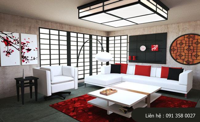 phòng khách kiểu Nhật 2