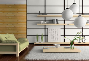 Mẫu phòng khách kiểu Nhật bản thiết kế đẹp