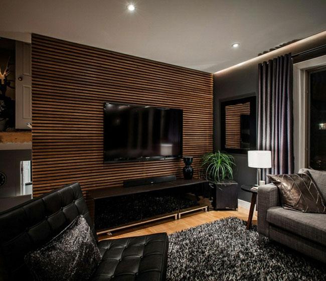 tường ốp gỗ phòng khách 2