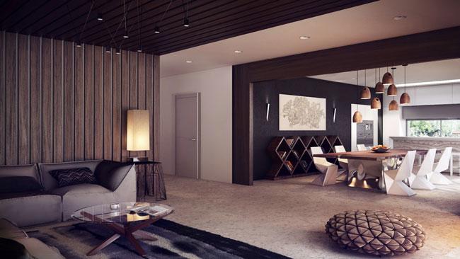 tường ốp gỗ phòng khách 3