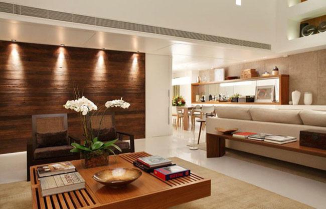 tường ốp gỗ phòng khách 4