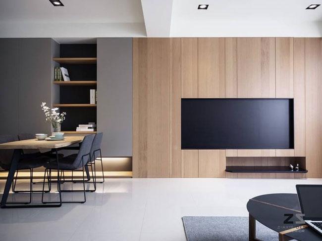 tường ốp gỗ phòng khách 5