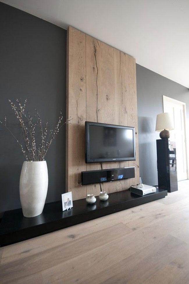 tường ốp gỗ phòng khách 6