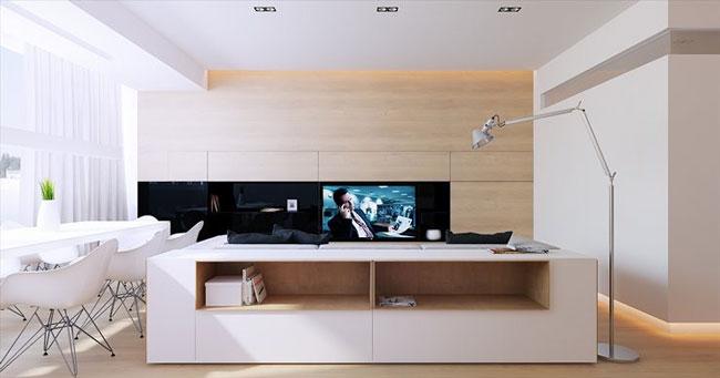 tường ốp gỗ phòng khách 8