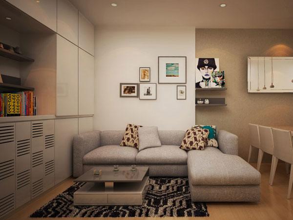 thiết kế phòng khách mini 1