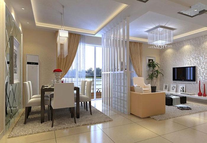 thiết kế phòng khách liên thông bếp 12