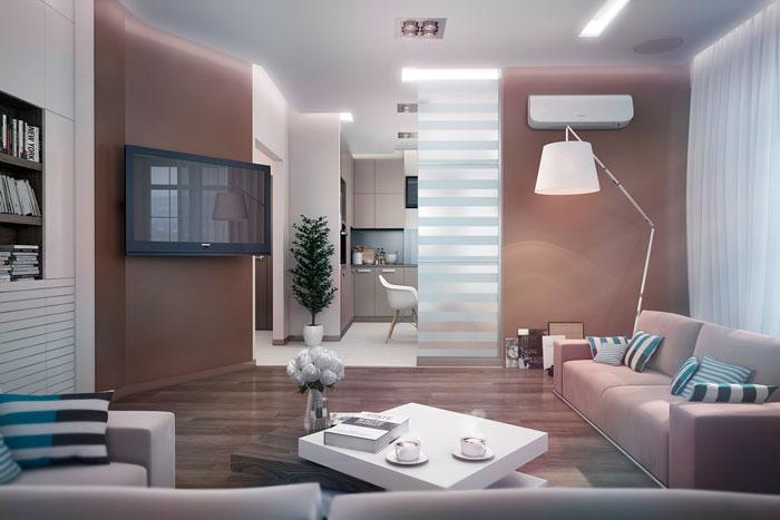 thiết kế phòng khách liên thông bếp 14