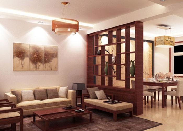 thiết kế phòng khách liên thông bếp 15