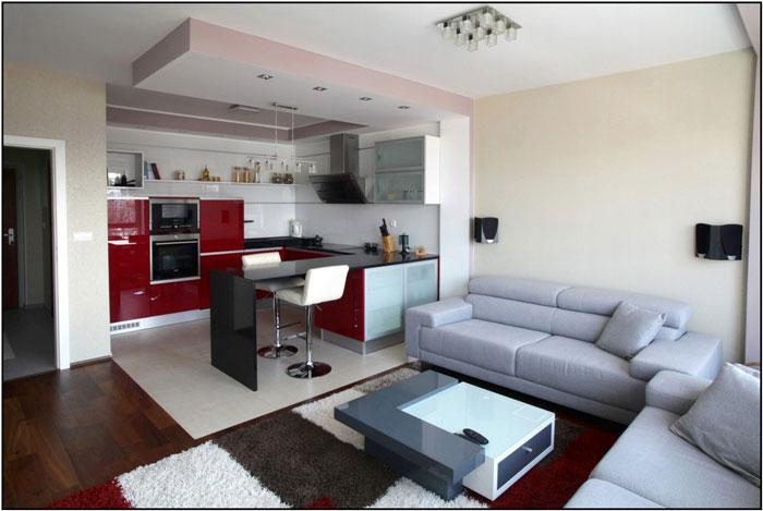 thiết kế phòng khách liên thông bếp 5