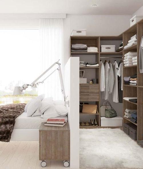 phòng ngủ kết hợp phòng thay đồ có vách ngăn 1