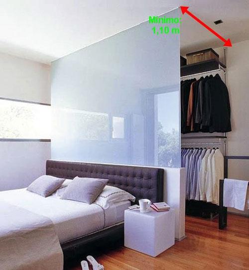 phòng ngủ kết hợp phòng thay đồ có vách ngăn 4