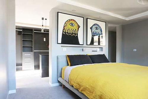 phòng ngủ kết hợp phòng thay đồ có vách ngăn 5