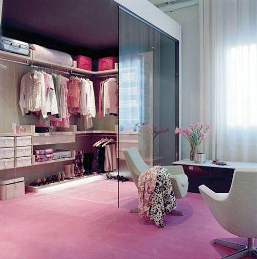 phòng ngủ kết hợp phòng thay đồ có vách ngăn 6