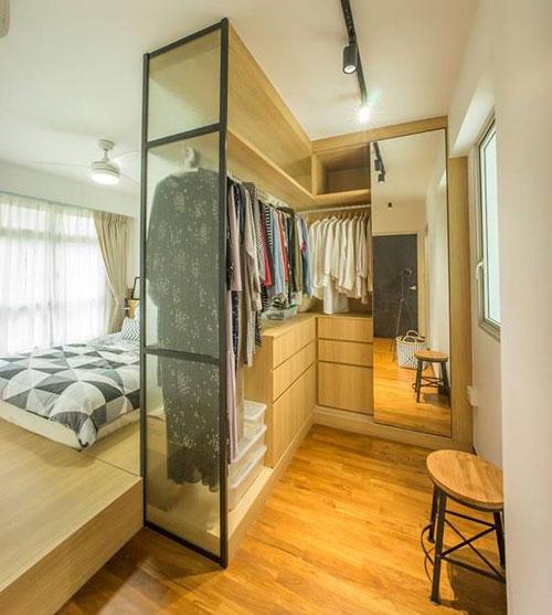 mẫu phòng thay đồ trong phòng ngủ đơn giản 16