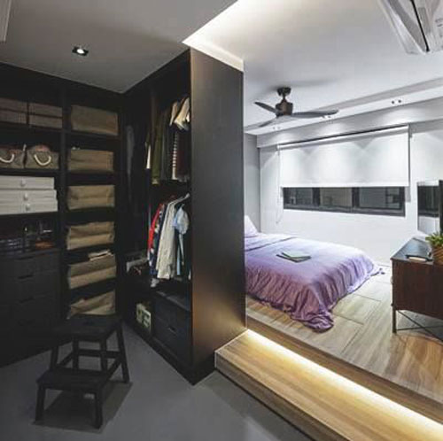mẫu phòng thay đồ trong phòng ngủ đơn giản 7