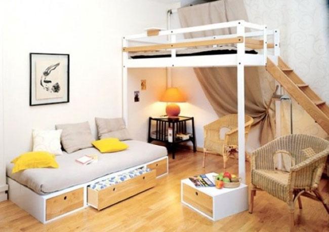 phòng ngủ có gác lửng đẹp 12