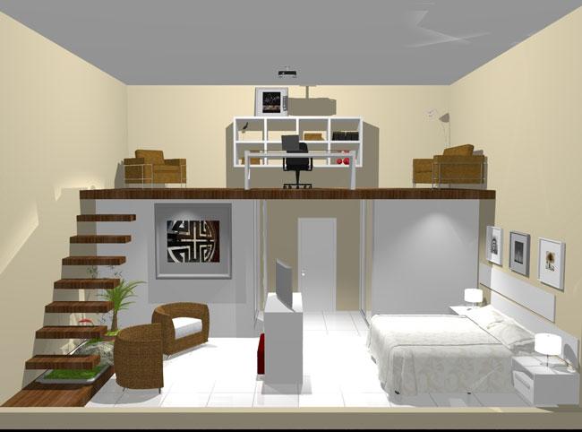 phòng ngủ có gác lửng đẹp 3