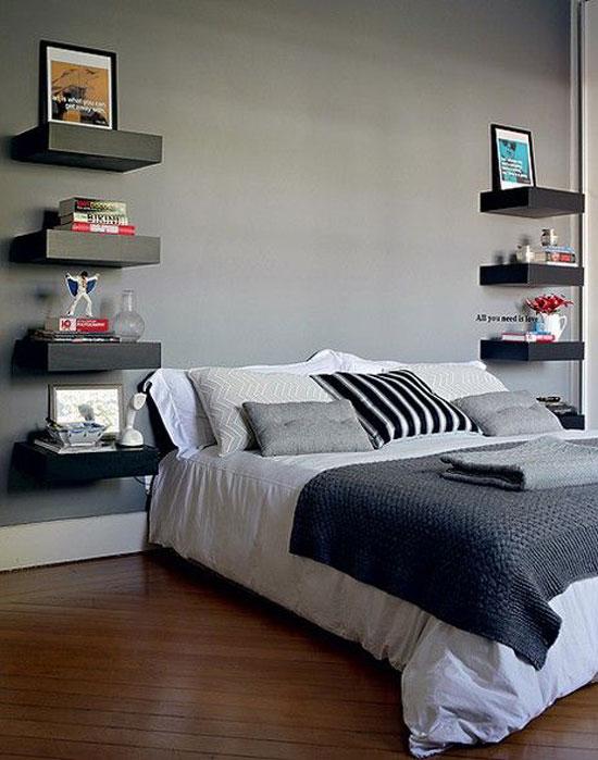 kệ trang trí phòng ngủ 10
