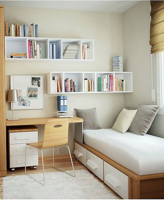 kệ trang trí phòng ngủ 12