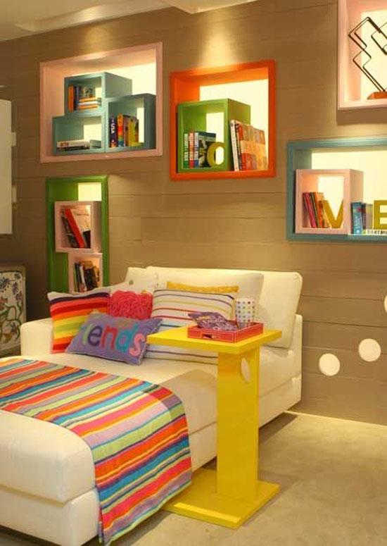 kệ trang trí phòng ngủ 9