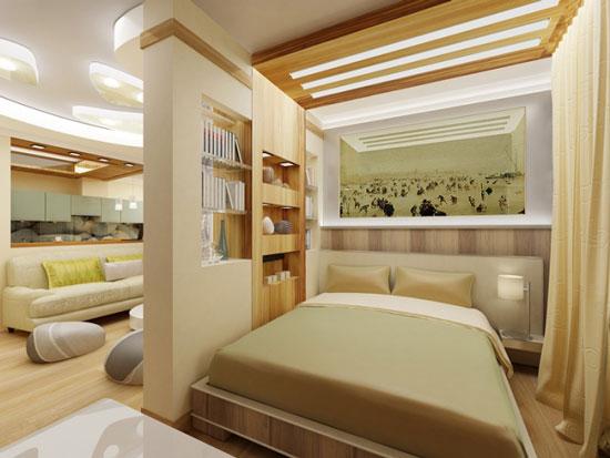 phòng ngủ có vách ngăn 12