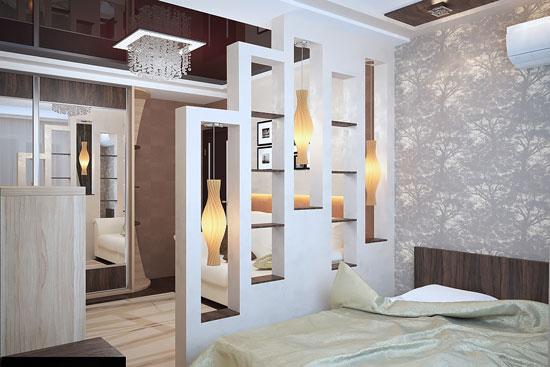 phòng ngủ có vách ngăn 13