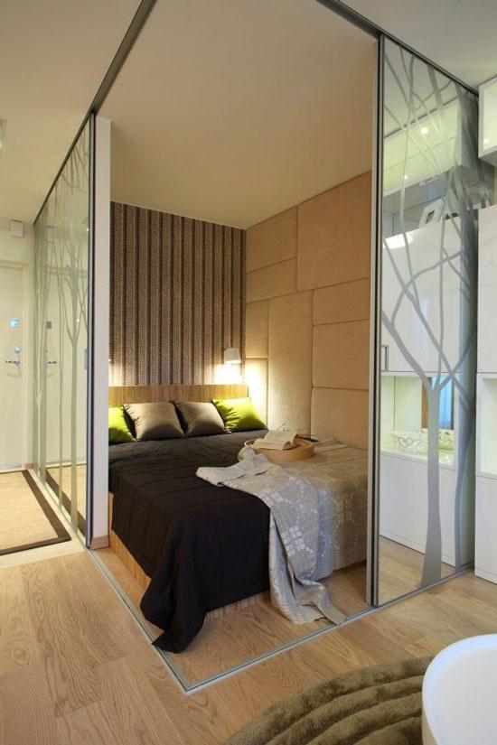phòng ngủ có vách ngăn 2