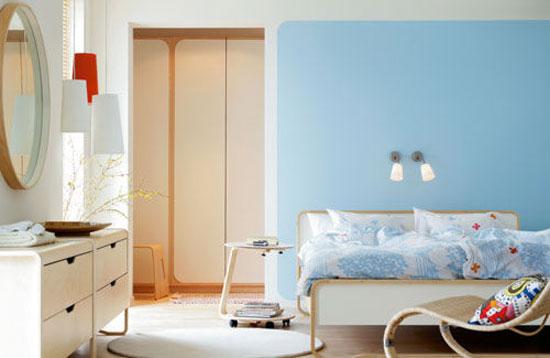 phòng ngủ màu xanh nước biển 1