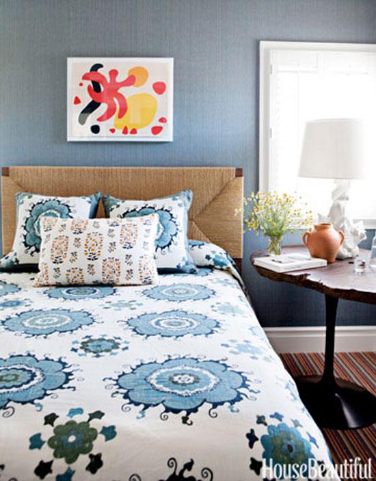 phòng ngủ màu xanh nước biển 10