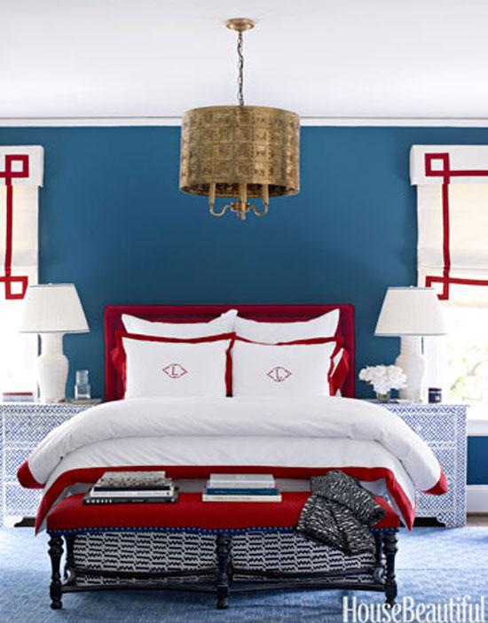 phòng ngủ màu xanh nước biển 11