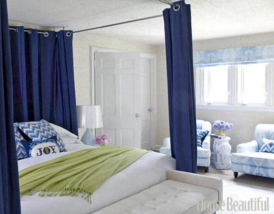 phòng ngủ màu xanh nước biển 12