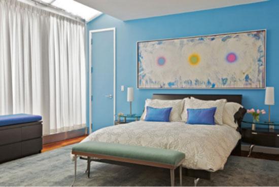 phòng ngủ màu xanh nước biển 13