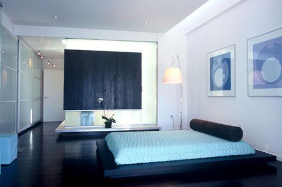 phòng ngủ màu xanh nước biển 15