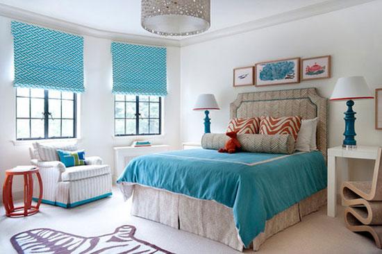 phòng ngủ màu xanh nước biển 16