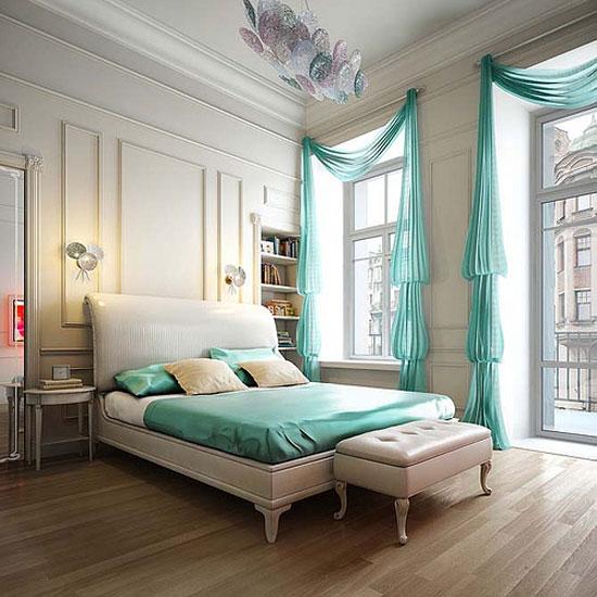phòng ngủ màu xanh nước biển 17