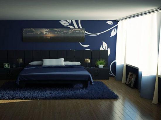 phòng ngủ màu xanh nước biển 18