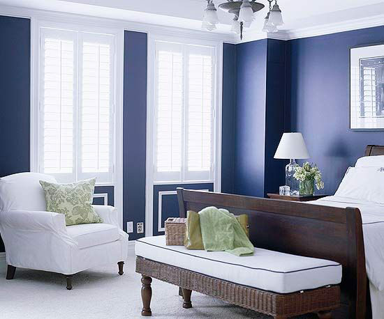 phòng ngủ màu xanh nước biển 19