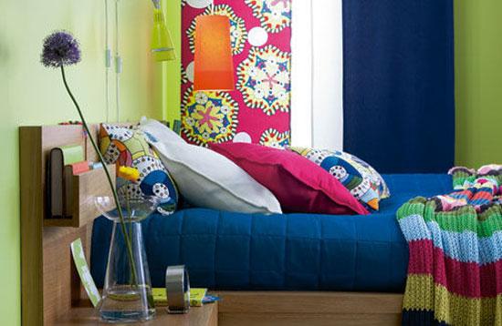 phòng ngủ màu xanh nước biển 2