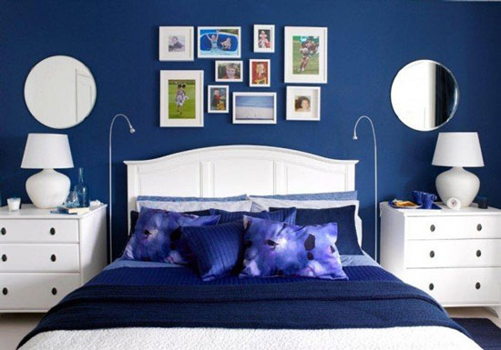 phòng ngủ màu xanh nước biển 20