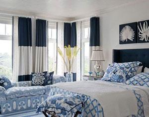 Thêm mầu xanh dương ( xanh nước biển ) vào phòng ngủ