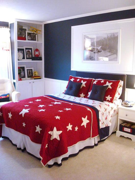 phòng ngủ màu xanh nước biển 22