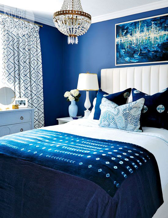 phòng ngủ màu xanh nước biển 23