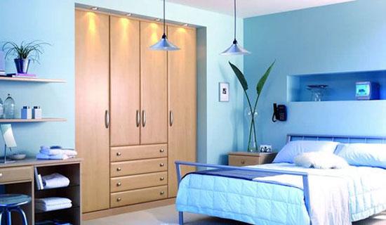 phòng ngủ màu xanh nước biển 25