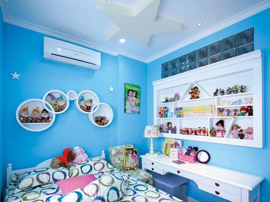 phòng ngủ màu xanh nước biển 26