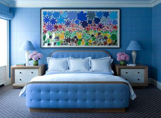 phòng ngủ màu xanh nước biển 27