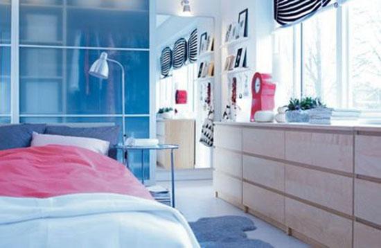 phòng ngủ màu xanh nước biển 3