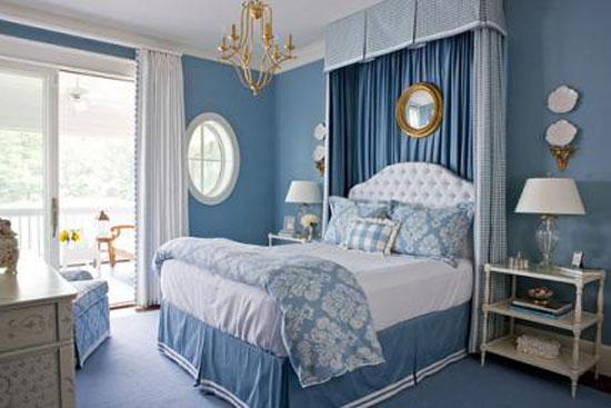 phòng ngủ màu xanh nước biển 8