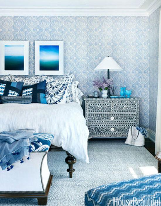 phòng ngủ màu xanh nước biển 9